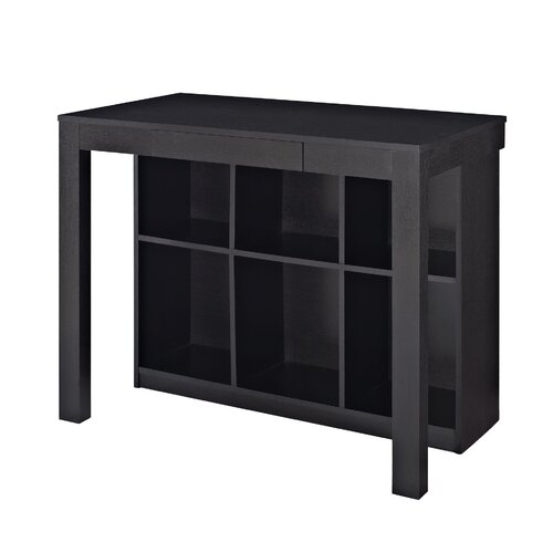 Altra Parsons Credenza Desk With Drawer And Bookcase