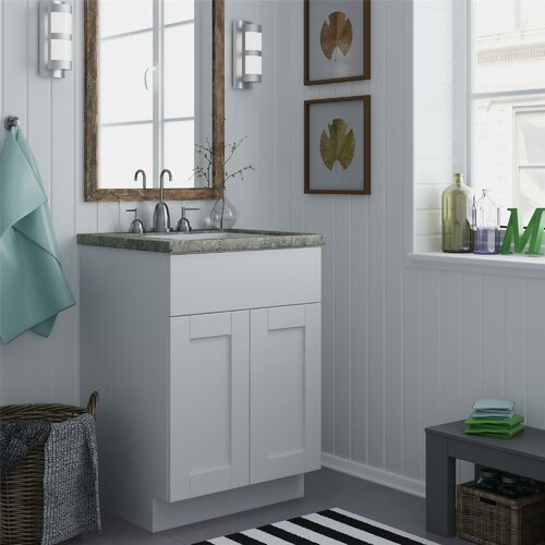 Altra shaker 24 bath vanity base reviews wayfair - Unfinished shaker bathroom vanity ...