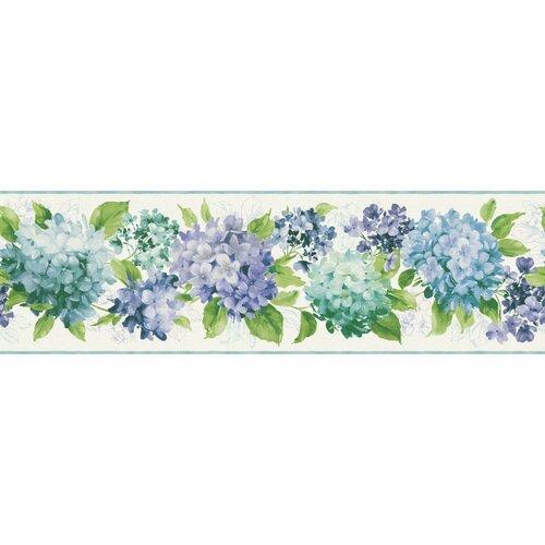 "Kitchen Wallpaper Border: Kitchen And Bath Hydrangea 33' X 9"" Floral And Botanical"