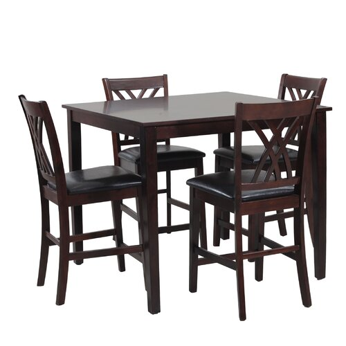 Powell daniel 5 piece counter height dining set reviews for 5 piece dining room set under 200