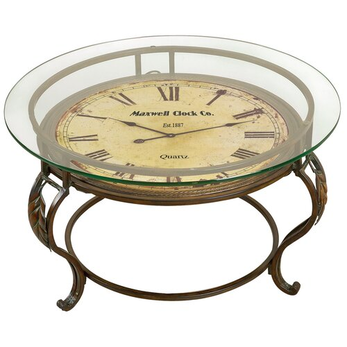 Alcott Hill Lytton Coffee Table With Clock Reviews Wayfair