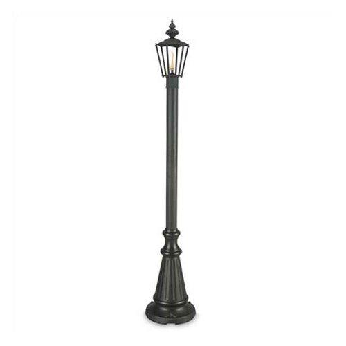 European 4 Light 80 Outdoor Bronze Post Lantern Set with Planter by