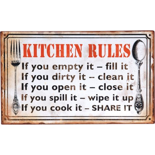 Wilco Home Decor: Wilco Home 'Kitchen Rules...' Textual Art Plaque & Reviews