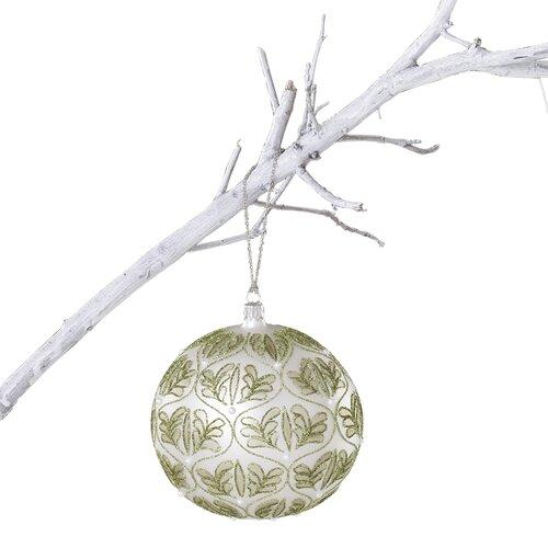 Sage Holidays: Winter Sage Holiday Glass Fern Ball Ornament