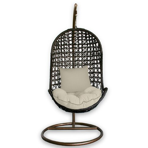 patio heaven skye bird 39 s nest swing chair with stand reviews wayfair. Black Bedroom Furniture Sets. Home Design Ideas