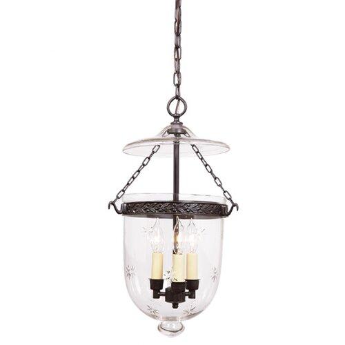 JVI Designs 1045-08 Semi Flush Elongated Bell Jar Lantern with Star Glass