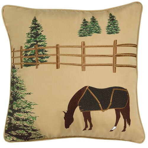 Rightside Design Abigail and Lily Equine Winter Chill Horse Indoor/Outdoor Sunbrella Throw Pillow