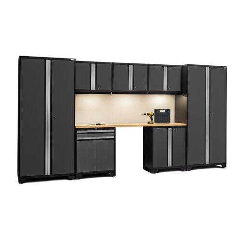 Pro 3 0 series 8 piece garage storage cabinet set with for 10 x 8 garage door lowes