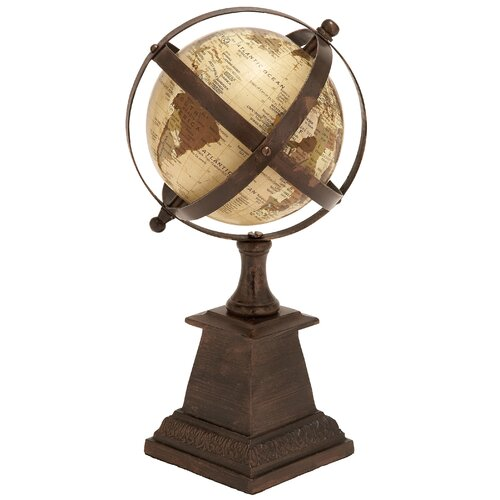 Woodland Imports Aluminum Globe Sculpture