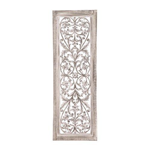 Panel Wall D Cor By Woodland Imports: Woodland Imports Attractive Wood Panel Wall Décor