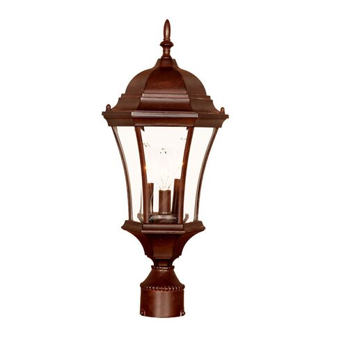 French country 3 light outdoor post lantern wayfair for French country outdoor lighting