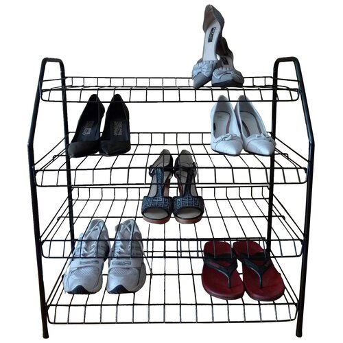 Contemporary 4 Tier Shoe Rack by ATH Home