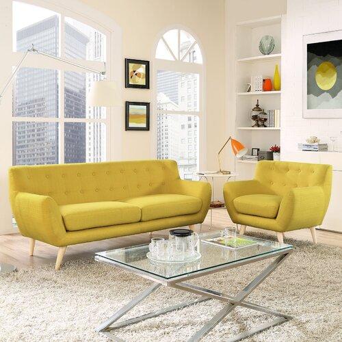 modway remark 2 piece living room set reviews wayfair