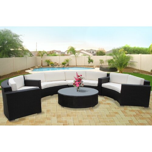 portico 7 piece outdoor dining set images