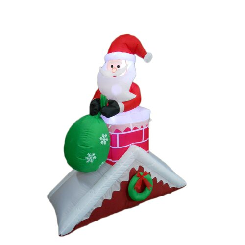 Rooftop Christmas Decorations : Santa Claus on Roof Christmas Decoration by BZB Goods