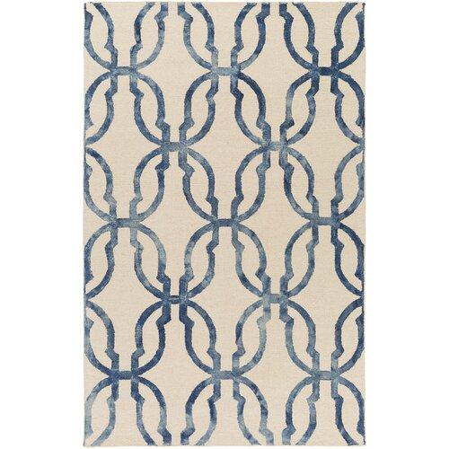 Chloe Rug From Organic By Artistic Weavers: Organic Julia Hand-Tufted Slate Blue/Ivory Area Rug