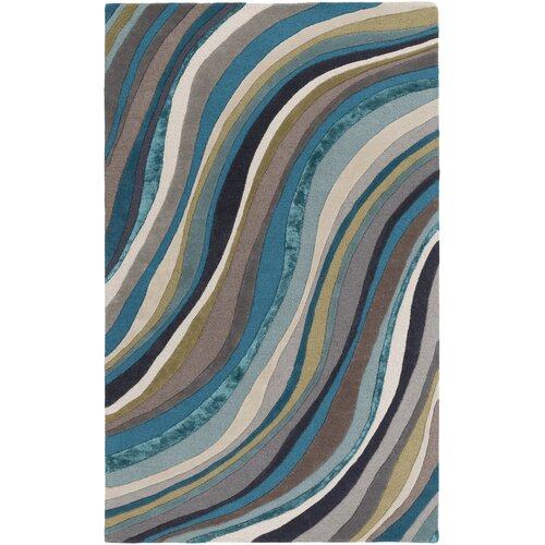 Lounge Carmen Hand-Tufted Teal Area Rug