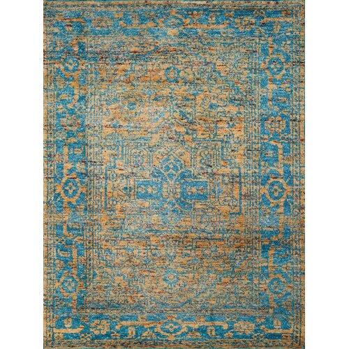silkshine gold blue area rug wayfair. Black Bedroom Furniture Sets. Home Design Ideas