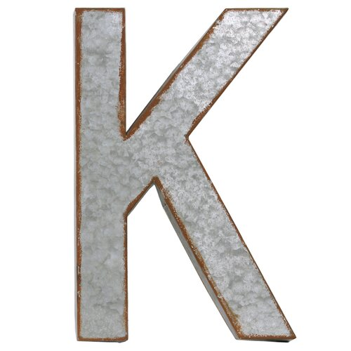 Wall Decor Letter K : Urban trends alphabet letter quot k wall decor reviews