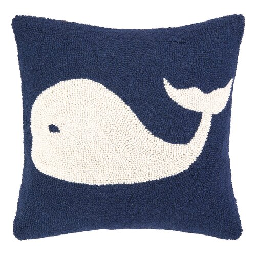 Peking Handicraft Nautical Hook Whale Throw Pillow & Reviews Wayfair