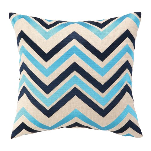 Peking Handicraft Courtney Cachet Chevron Embroidered Decorative Throw Pillow & Reviews Wayfair