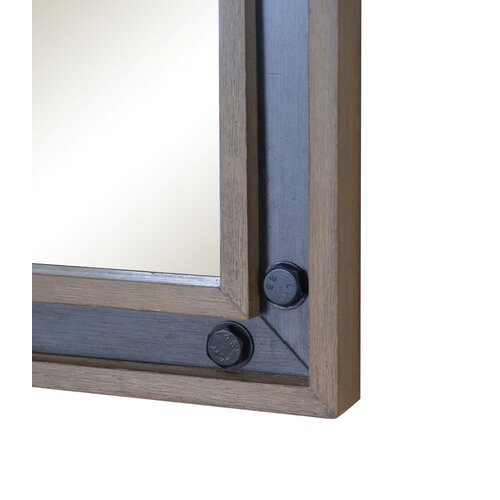 Urban metallo framed mirror wayfair for Mirror 50 x 30