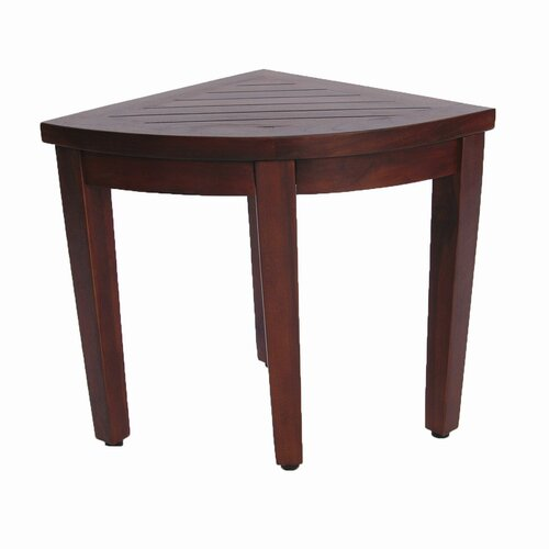 Decoteak Oasis Teak Corner Shower Seat Stool Chair Bench