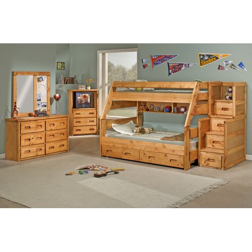 Chelsea Home Twin Over Full Standard Bunk Bed With Trundle