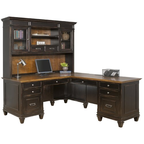 kathy ireland home by martin furniture hartford 3 piece l shaped desk