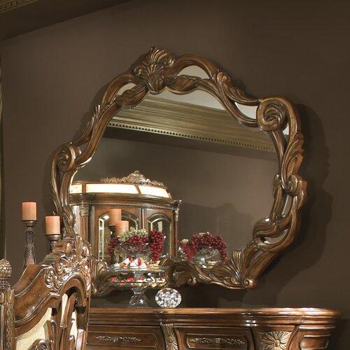 Michael Amini Villa Valencia Chestnut Traditional Round: Villa Valencia Rectangular Dresser Mirror