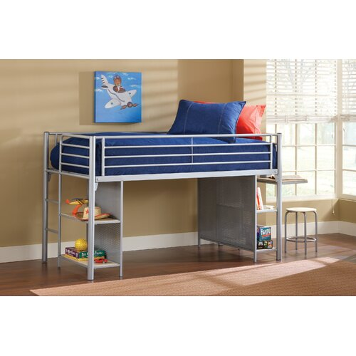Universal Youth Twin Low Loft Bed With Desk Wayfair