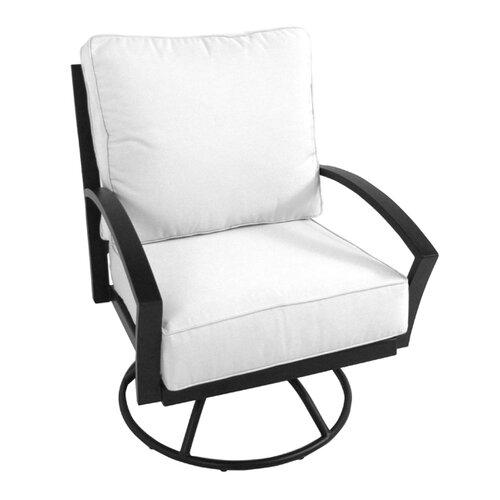Maddux Swivel Rocking Chair with Cushion