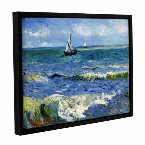tile floor and decor seascape at saintes maries by vincent gogh framed 22296