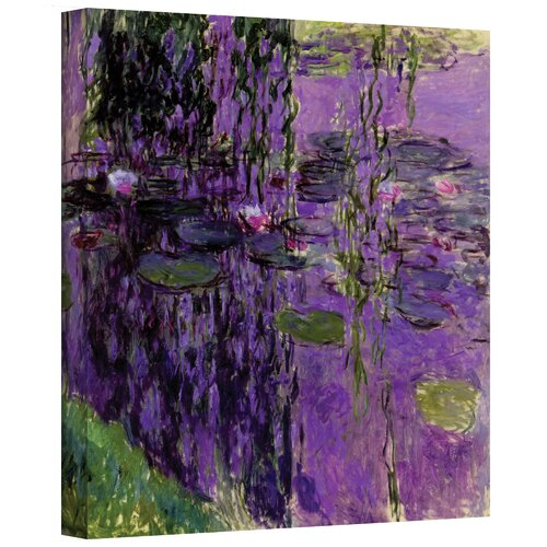 Alcott Hill Lavender Water Lilies By Claude Monet