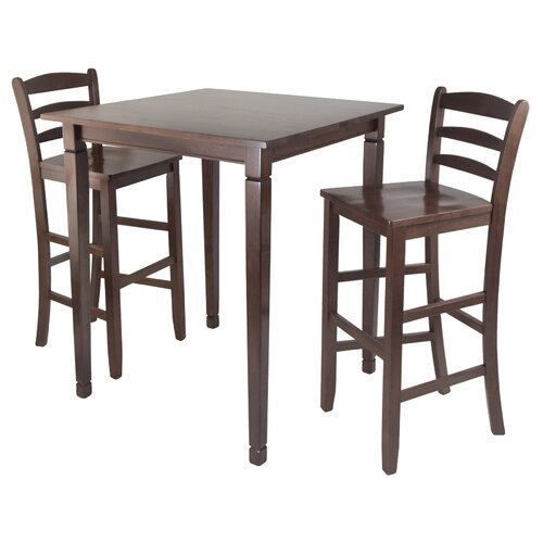 Winsome Kingsgate 3 Piece Counter Height Pub Table Set Reviews