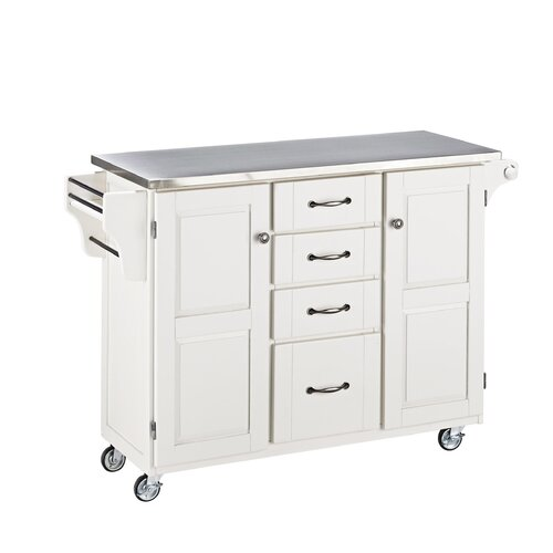 home styles create a cart kitchen island with stainless stainless steel top kitchen cart island with optional