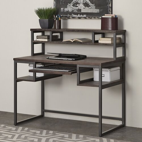 Barnside metro computer desk with hutch wayfair - Hutch style computer desk ...