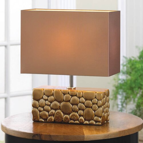 Zingz thingz river rock h table lamp with for River rock lamp
