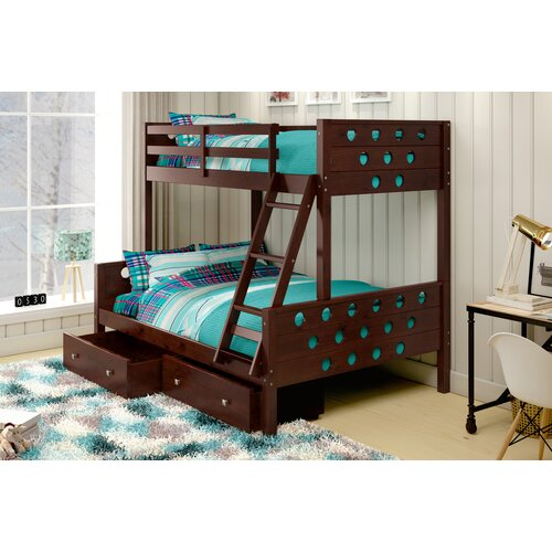 Twin over Full Bunk Bed with Storage