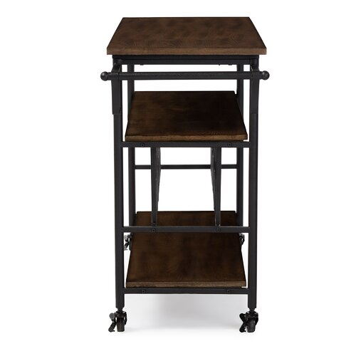 Industrial Kitchen Cart Bar Cart Serving Cart: Wholesale Interiors Bradford Serving Cart & Reviews