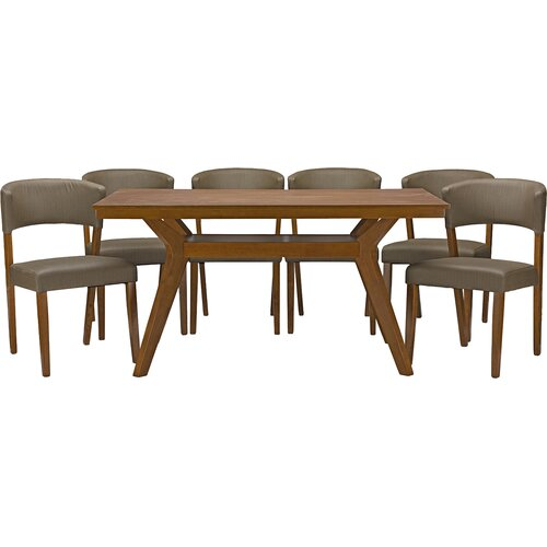 Wholesale Interiors Baxton Studio Montreal 7 Piece Dining