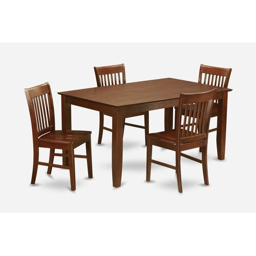 capri 5 piece dining set wayfair. Black Bedroom Furniture Sets. Home Design Ideas