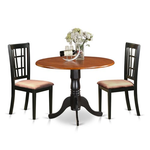 Solid Wood Kitchen Table Sets: 3 Piece Dining Set