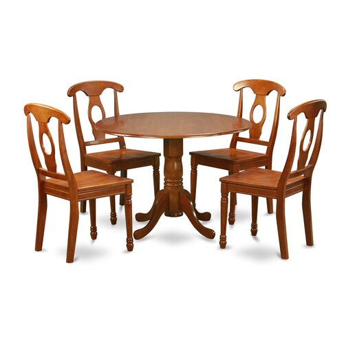 Dublin 5 piece dining set wayfair for Small 4 seater dining table