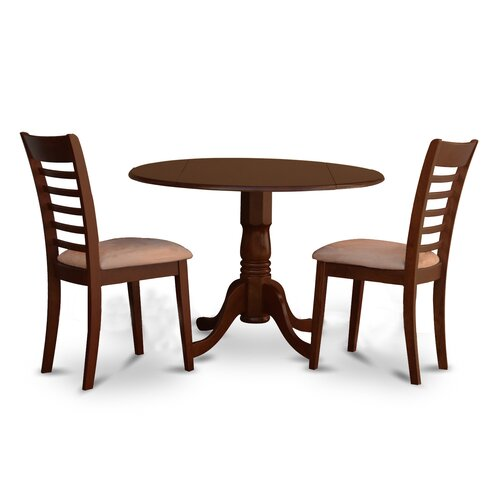 Dublin 3 piece dining set wayfair for Two seat kitchen table