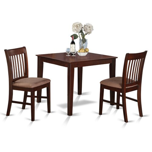 Kitchen Table With 2 Chairs: East West Oxford 3 Piece Dining Set & Reviews