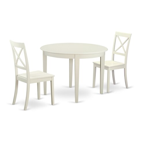 Kitchen Table With 2 Chairs: Boston 3 Piece Dining Set