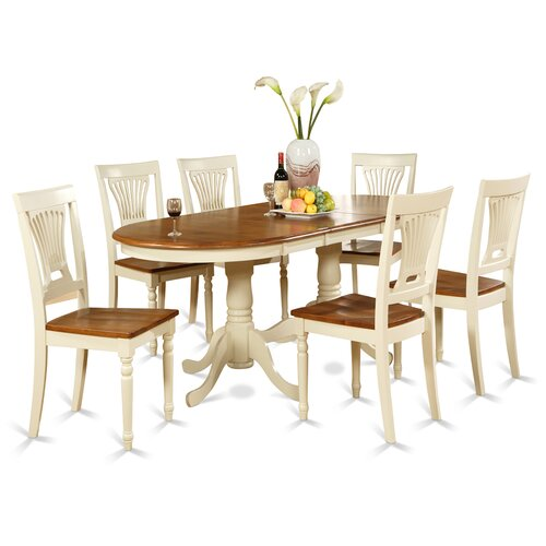 Cherry Kitchen Table And Chairs: Dining Room Table Set 7 Piece Chairs Wood Furniture