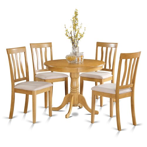 Small Wooden Kitchen Table And Chairs 3 Piece Set: Wooden Importers 5 Piece Dining Set & Reviews