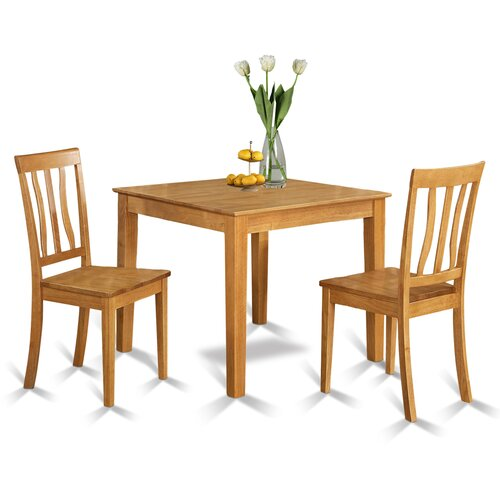 Oxford 3 piece dining set wayfair - Small kitchen table and 2 chairs ...